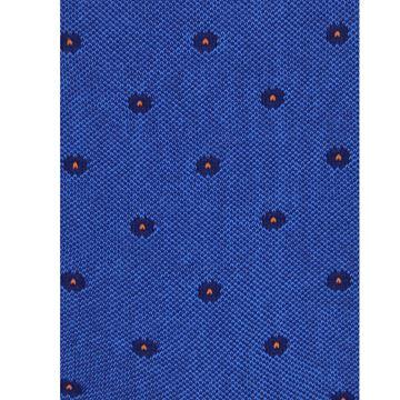 Marcoliani Milano Orange polka dots on blue cotton blend socks