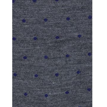 Marcoliani Milano navy on grey polka dots wool blend socks