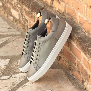 Custom sneakers trainers 3135 grey leather