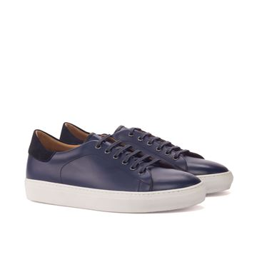 Custom sneakers trainers 3192 navy leather