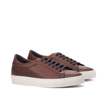 Custom sneakers trainers 3113 brown leather