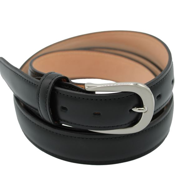 Miyagi Kogyo Black 30mm smooth calf leather belt