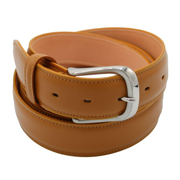 Miyagi Kogyo Tan smooth calf leather belt