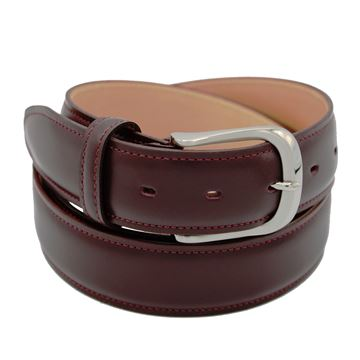 Miyagi Kogyo Burgundy smooth calf leather belt