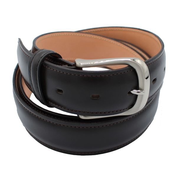 Miyagi Kogyo Dark brown smooth calf leather belt