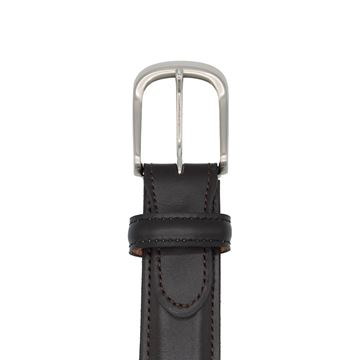 Miyagi Kogyo Dark brown smooth calf leather belt