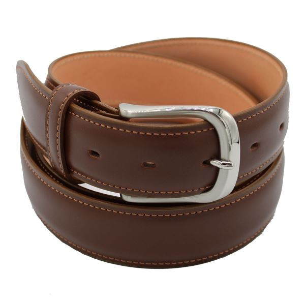 Miyagi Kogyo Mid brown smooth calf leather belt
