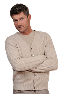 Paolamela Cashmere Custom 100% Cashmere Cable knit cardigan - Iso
