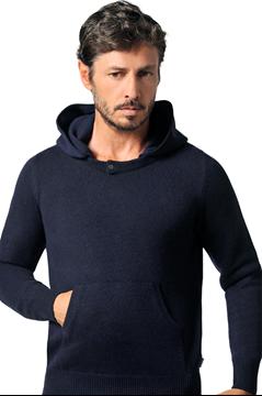 Paolamela Cashmere Custom 100% Cashmere detachable hoodie - Mariano