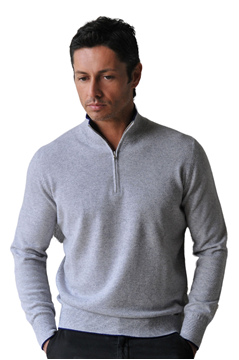 Paolamela Cashmere Custom 100% Cashmere Half-zip Sweater - Gianluca