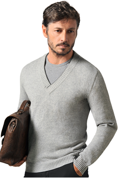 Paolamela Cashmere custom deep v-neck sweater - Clemente Bassa
