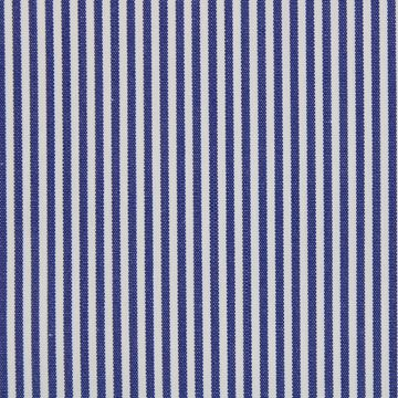 Dark Blue and White Pencil Stripes  shirt fabric