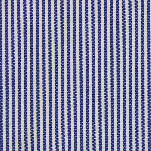 Dark Blue and White Pencil Stripes  shirt fabric