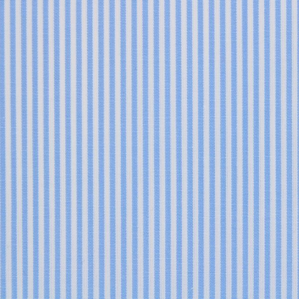 Light Blue on White Pencil Stripe shirt fabric - A595