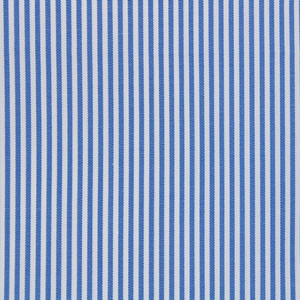 Medium Blue on White Pencil Stripes shirt fabric - A593