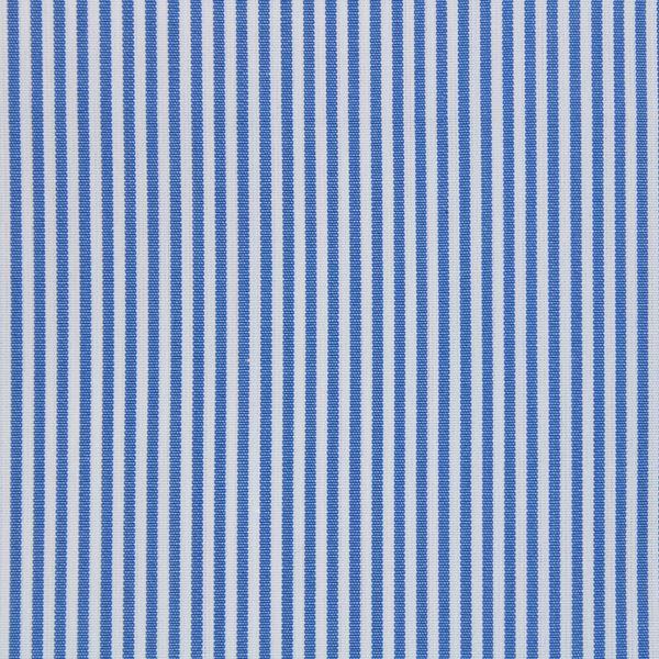Medium Blue on White Pencil Stripes shirt fabric - A593