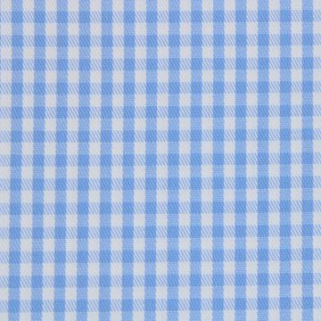 Light Blue and White Gingham Checks shirt fabric A608