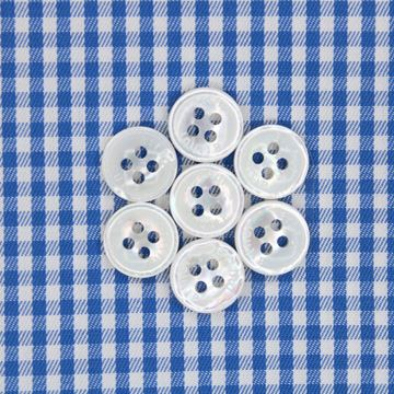 Blue and White Gingham Checks shirt fabric a609