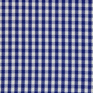 Navy and White Gingham Checks shirt fabric a913