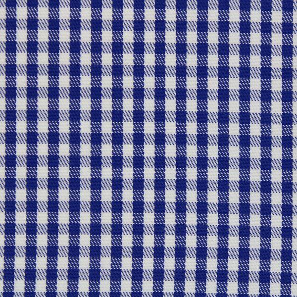 Navy and White Gingham Checks shirt fabric a913