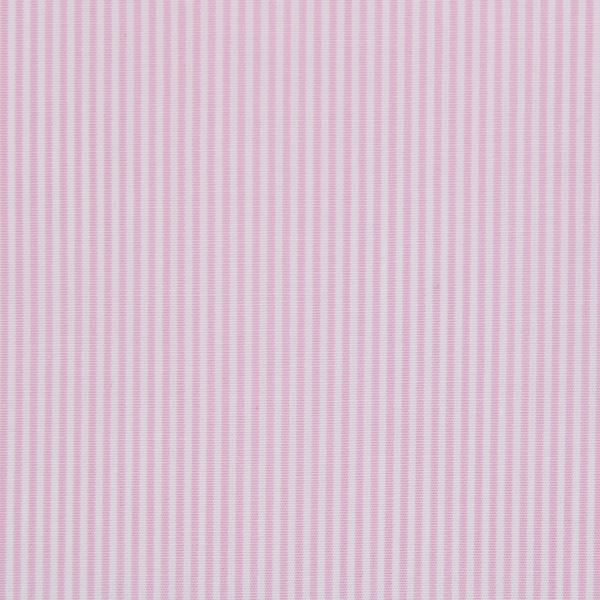 Pink and White Pencil Stripe shirt fabric G334