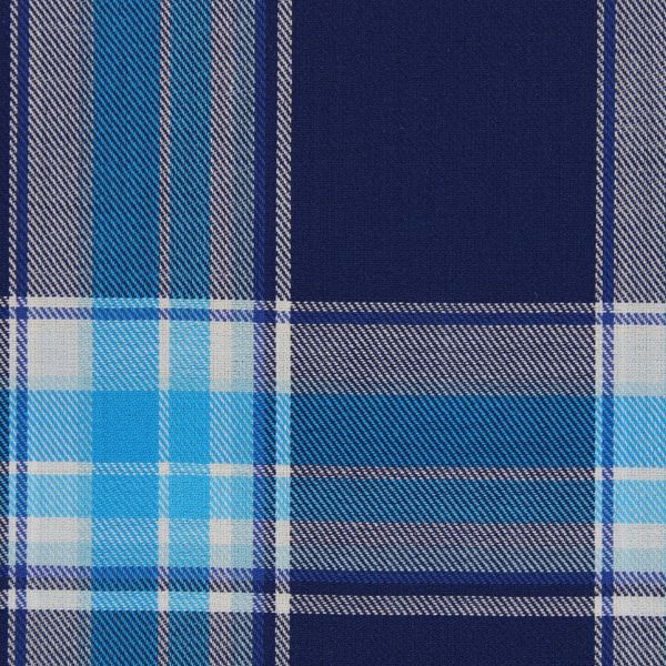 Large Aqua Checks on Navy shirt fabric T292