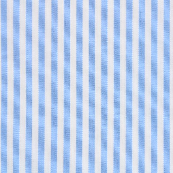Light Blue and White Banker Stripe shirt fabric a197