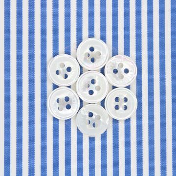 Blue and White Banker Stripe shirt fabric a198