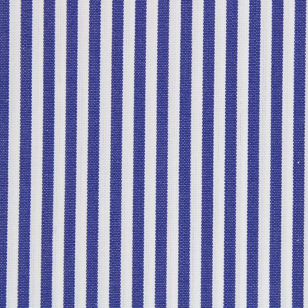Dark Blue and White Banker Stripe shirt fabric a1989