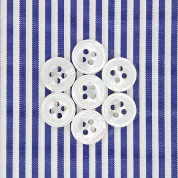 Dark Blue and White Banker Stripe shirt fabric a1989