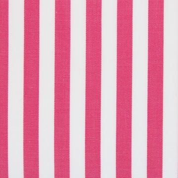 Fuscia and White bengal stripe shirt fabric -T277
