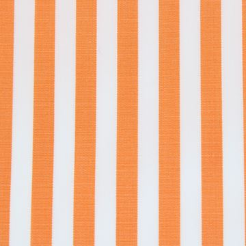 Orange and White bengal stripe shirt fabric -T28