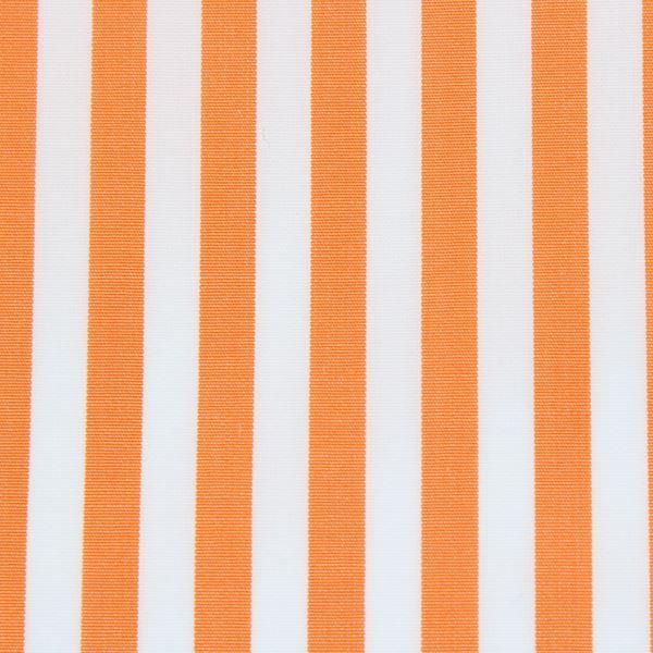 Orange and White bengal stripe shirt fabric -T28