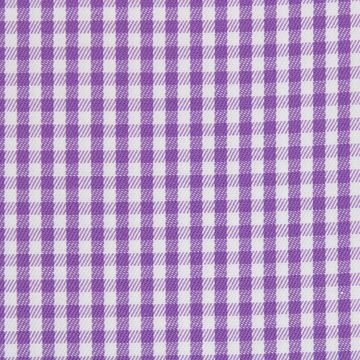 Purple and White Gingham Checks shirt fabric A610