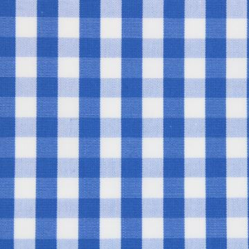 Blue and White large Gingham Checks shirt fabric a921