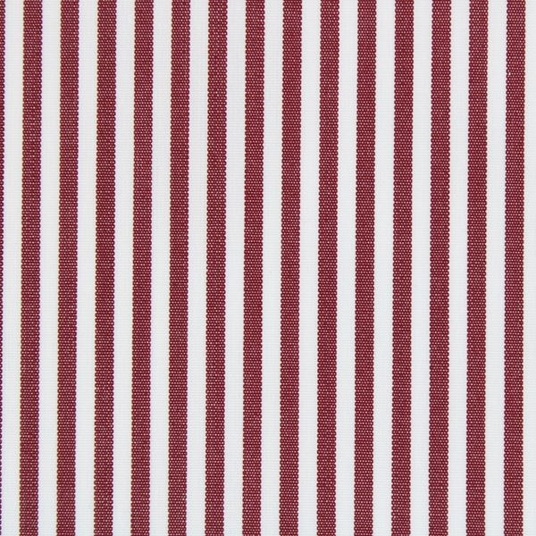 Burgundy and White Banker Stripe shirt fabric a1118