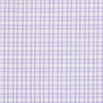 Satin Purple Checks on White shirt fabric A1134