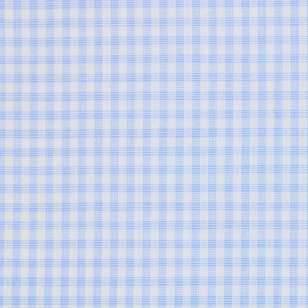 Cashmere/Cotton Blue and White Gingham Checks a1153