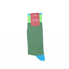 Marcoliani Milano navy and green horizontal striped cotton blend socks