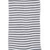 Marcoliani Milano white and grey horizontal striped cotton blend socks