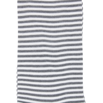 Marcoliani Milano white and grey horizontal striped cotton blend socks