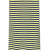 Marcoliani Milano navy and yellow horizontal striped cotton blend socks
