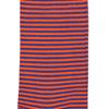 Marcoliani Milano orange and royal blue horizontal striped cotton blend socks