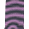 Marcoliani Milano lilac and charcoal horizontal striped cotton blend socks