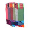 Marcoliani Milano aqua and navy horizontal striped cotton blend socks