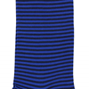 Marcoliani Milano royal blue and black horizontal striped cotton blend socks