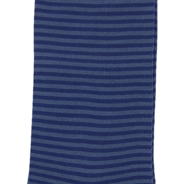 Marcoliani Milano navy and grey horizontal striped cotton blend socks