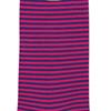 Marcoliani Milano fuchsia and navy horizontal striped cotton blend socks