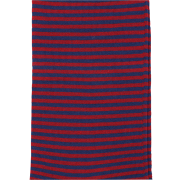 Marcoliani Milano red and navy horizontal striped cotton blend socks