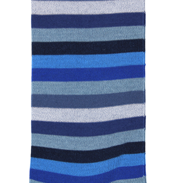 Marcoliani Milano navy, grey and blue horizontal striped cotton blend socks